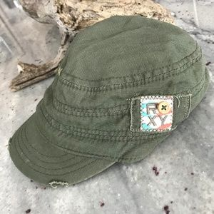 Roxy Castro Hat in Olive Green